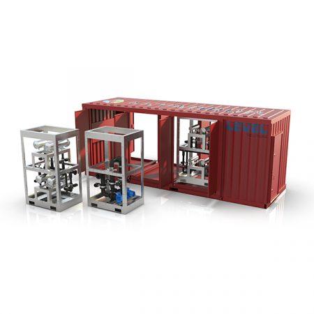 Modulbasert vannbehandling levert i container